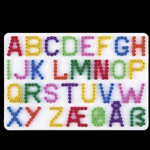 Strijkkralen plaat letters