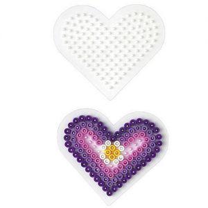 Strijkkralen plaat hart klein
