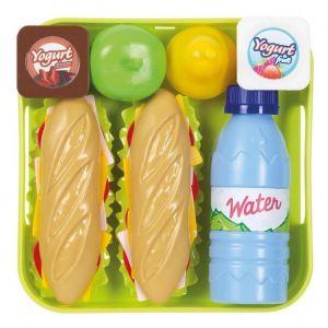 Voedselset Sandwich Op Dienblad