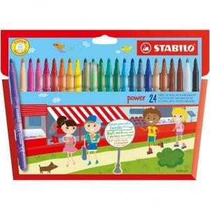 Viltstiften Stabilo Power Stiften 24 Stuks