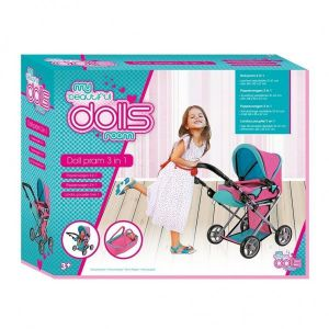 Poppenwagen Dolls Room 3 in 1