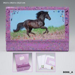 Horses briefpapier in vakjesdoos