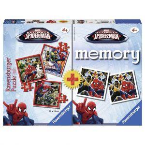 Spel Memory + Puzzel Spiderman