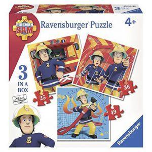 Puzzel Brandweerman Sam 3 in 1