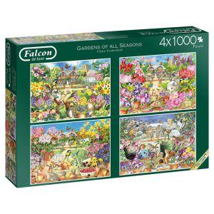 Puzzel Gardens All Seasons 4x 1000 Stukjes