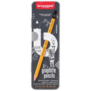 Bruynzeel grafietpotlood 6 stuks