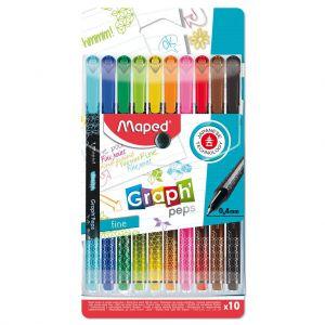 Viltstiften Fijnlijner Maped 10 Kleuren 0,4 MM