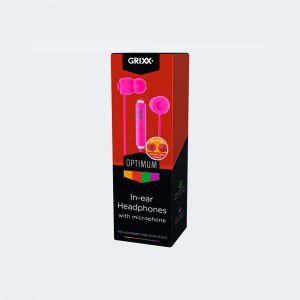 Grixx In-Ear Hoofdtelefoon Met Microfoon Roze