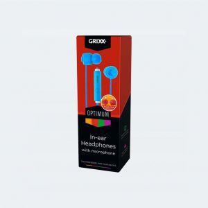 Grixx In-Ear Hoofdtelefoon Met Microfoon Blauw