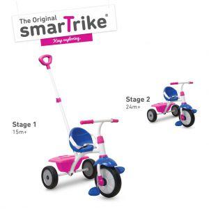 Driewieler 2-In-1 Smart Trike Roze