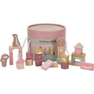 Little Dutch bouwblokken hout Pink