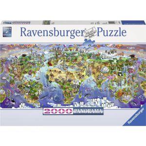 Ravensburger puzzel Wereldwonderen - Legpuzzel - 2000 stukjes