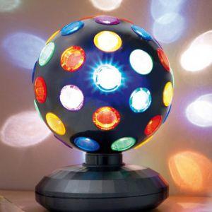 Disco bol LED zwart 15cm