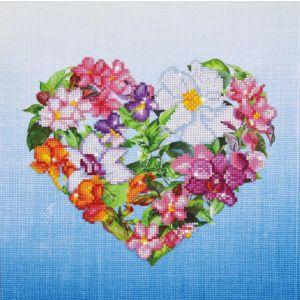 Diamond Dotz bloemen hart