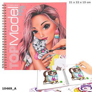 TOPModel Create your Kitty colouring boek