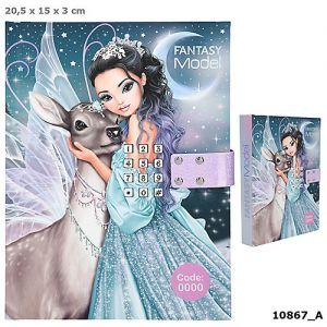 Fantasy Modell dagboek met geheime code ICEPRINCESS