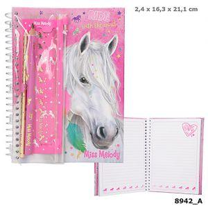 Miss Melody ringboek met etui