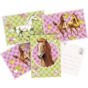 Uitnodigingskaartjes paard