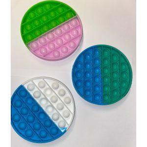 Pop-it fidget rond duo kleur assorti